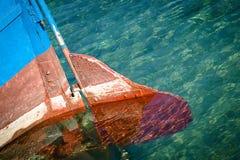 Oude boot stock fotografie