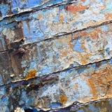 Oude boot met van de achtergrond schilverf textuur Royalty-vrije Stock Afbeeldingen