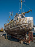 Oude Boot Reykjavik Royalty-vrije Stock Foto's