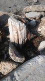 Oude bootpost royalty-vrije stock afbeeldingen