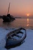 Oude boten stock afbeeldingen