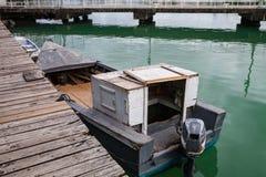 Oude boten, Antigua Royalty-vrije Stock Foto's