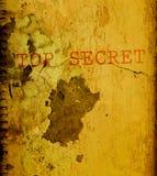 Oude bovenkant - geheim document. Stock Afbeeldingen