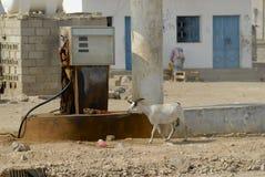 Oude brandstofpost, Yemen royalty-vrije stock afbeeldingen