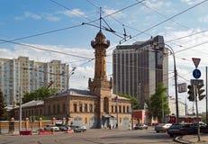 Oude brandtoren Moskou, Rusland Stock Foto