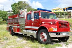 Oude brandvrachtwagen Stock Afbeelding