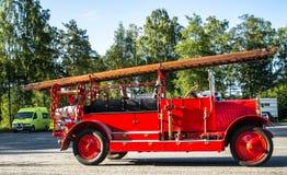 Oude brandvrachtwagen royalty-vrije stock fotografie