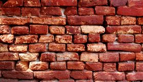 Oude brickwall Stock Fotografie
