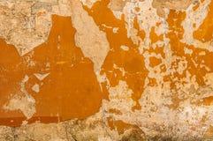 Oude Brickwall met de Textuur van de de Kleurengipspleister van het Schilmoeras Stock Afbeeldingen