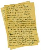 Oude brief Stock Foto's