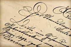Oude brief met uitstekend handschrift royalty-vrije stock foto