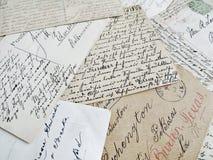 Oude brieven stock afbeelding