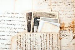 Oude brieven stock afbeeldingen
