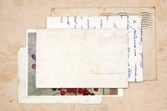 Oude brieven, lege prentbriefkaaren Royalty-vrije Stock Afbeelding