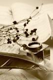 Oude brievenachtergrond Stock Fotografie