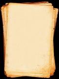 Oude brievenbladen stock foto's
