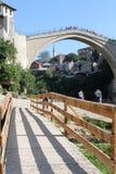 Oude brigde - Mostar Stock Fotografie
