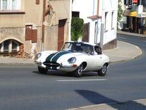 Oude Britse coupé, Jaguar-e-Type Stock Fotografie