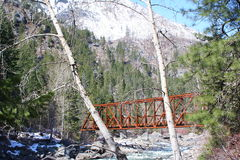 Oude brug royalty-vrije stock foto's
