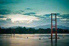 Oude brug 200 jaar van stad Tak Royalty-vrije Stock Foto