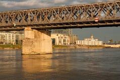 Oude brug in Bratislava Stock Foto