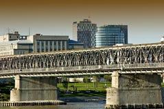 Oude brug in Bratislava Royalty-vrije Stock Fotografie