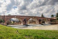 Oude brug in Cesena, Italië royalty-vrije stock foto
