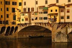 Oude brug in Florence Royalty-vrije Stock Fotografie