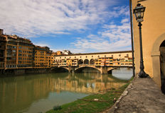 Oude brug in Florence Stock Foto's