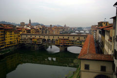 Oude Brug in Florence, Italië. stock foto