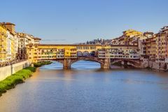 Oude Brug in Florence, Italië Stock Foto