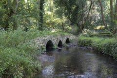 Oude brug in Gower royalty-vrije stock afbeeldingen