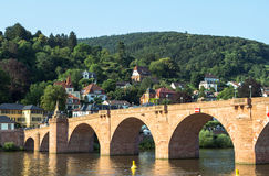 Oude brug, Heidelberg Royalty-vrije Stock Fotografie