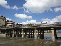 Oude brug in Kyoto Royalty-vrije Stock Foto