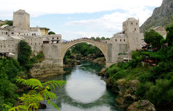 Oude Brug in Mostar Royalty-vrije Stock Afbeelding