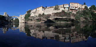 Oude brug, Mostar Stock Fotografie
