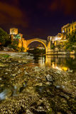Oude Brug in Mostar - Bosnië-Herzegovina Royalty-vrije Stock Afbeeldingen