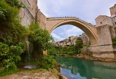 Oude Brug in Mostar - Bosnië-Herzegovina Stock Foto's