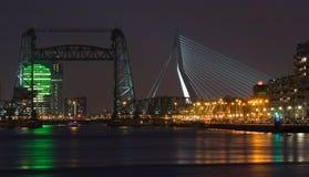 Oude brug, nieuwe brug Royalty-vrije Stock Afbeeldingen