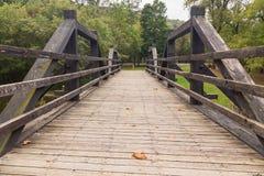 Oude brug over Potomac kanaal in Harpers-Veerboot Royalty-vrije Stock Foto's
