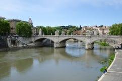 Oude brug in Rome, Italië Royalty-vrije Stock Foto's
