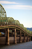 Oude brug tusen staten in Oregon stock afbeelding