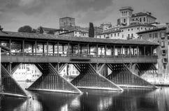 Oude brug van Bassano del Grappa royalty-vrije stock foto's
