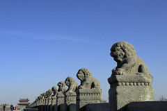 Oude brug van China Royalty-vrije Stock Afbeelding
