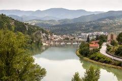 Oude brug Visegrad, Bosnië-Herzegovina Stock Foto