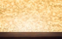 Oude bruine en uitstekende hoogste houten de textuurbackgrou van de plankenvloer Royalty-vrije Stock Foto