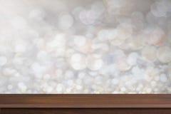 Oude bruine en uitstekende hoogste houten de textuurbackgrou van de plankenvloer Royalty-vrije Stock Foto's