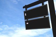 Oude bruine houten blauwe de hemelachtergrond van het richtingsteken Royalty-vrije Stock Afbeelding