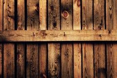 Oude bruine houten omheining Stock Foto's