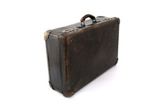 Oude bruine koffer voor reis Royalty-vrije Stock Afbeeldingen